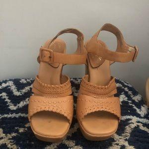 Korkease leather platform 70s inspired sandals